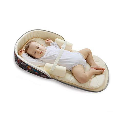 Kinderbetten Bionic Bett + Aufbewahrungstasche + Septum Pad + Moskitonetz tragbares Bett Bett Multifunktions Faltbare Rucksack Bett Neugeborenen bionische Bett Baby-Anti-Druck-Bett