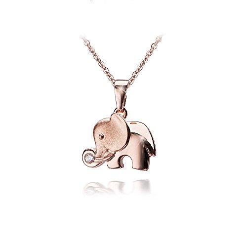 Colgante con forma de elefante en plata de ley 925 bañada en...