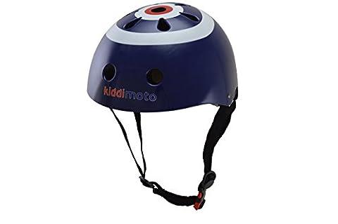 Kiddimoto Kids Classic Target Helmet - Blue, 48-52cm