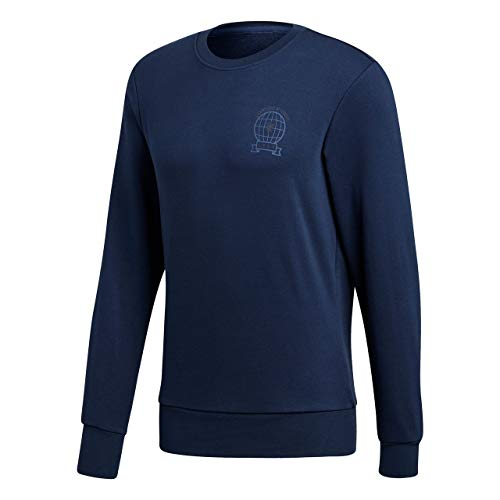 adidas Herren Manchester United Graphic Sweat Top Sweatshirt, Collegiate Navy, S - United Manchester Pullover