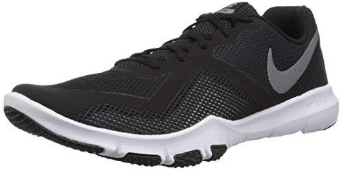 Nike NIKE363341-540, Flex Control II 4e Herren, Schwarz (Black/Metallic Cool Grey - Dark Grey - Cool Grey), 43 D(M) EU (Schuhe Nfl Nike)