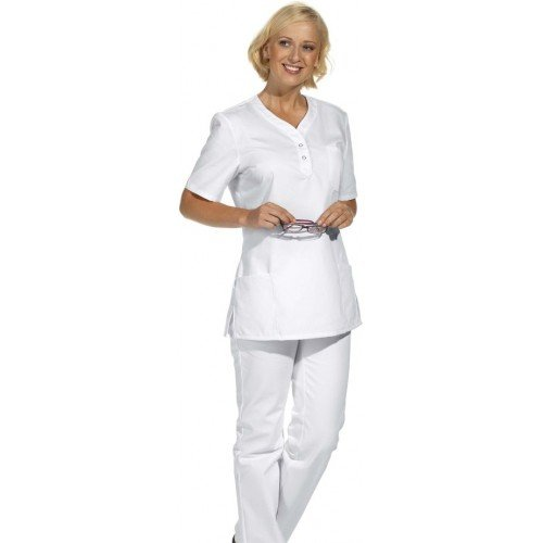 Leiber Damen-Schlupfjacke Damenkasack (XS (32/34), Weiß) XS (32/34),Weiß
