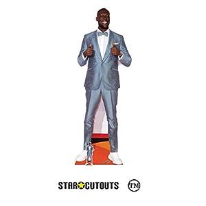 Star Cutouts Ltd- Star Cutouts CS810 Stormzy Lifesize-Figura de cartón para Aficionados, expositores y coleccionistas, 194 cm Ancho, 67 cm de Alto
