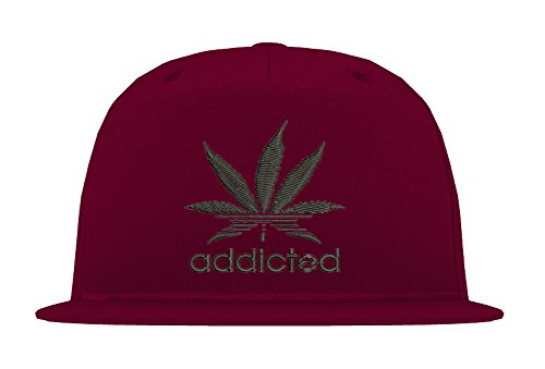 5-Panel Snapback Cap Modell ADDICTED, Schwarz-Burgundy, - Hat Tisa