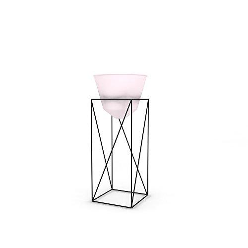 Moderne Geschmiedete Eisen (Feifei Blumenständer für den Innenbereich, geschmiedetes Eisen und Blumenständer, modern, minimalistisch, Blumenregal 20 * 25 * 60cm Pink)