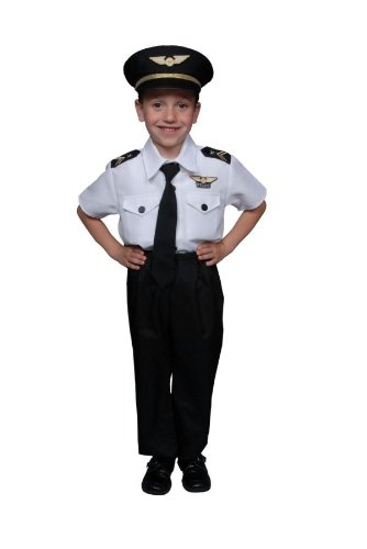 Dress Up America Deluxe Kinder Pilot Kostüm Set von Dress Up (Kostüme Pilot Zubehör)