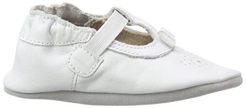 Robeez Pretty Girl, Chaussures de Naissance Bébé Fille Blanc