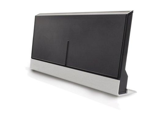 One for All SV 9385 Full HD DVB-T Zimmerantenne mit 47 dB Verstärkung, Design Line, schwarz/silber