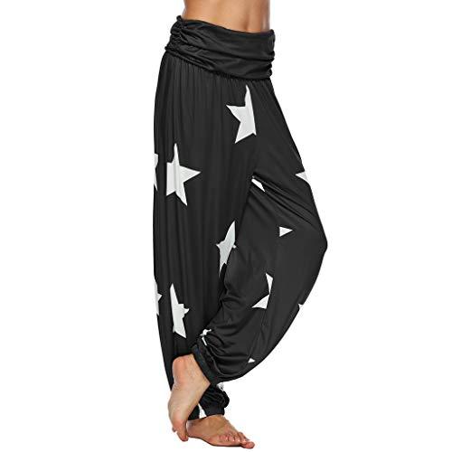 Swat Kleid Kostüm Frauen - Lazzboy Frauen-Sport-Yoga M-5XL,Trainings-mittlere Taillen-Laufhose(Schwarz,5XL)