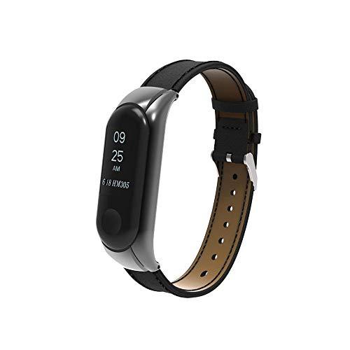 LANSKIRT_Correas de Banda de Pulsera de Repuesto Reloj de Pulsera Correa Reloj Banda + Funda de Metal para Xiaomi Mi Band 3 Br