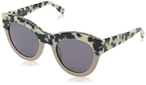 Stella McCartney Unisex-Erwachsene SC0018S 003 Sonnenbrille, Braun (003-Avana/Grey), 50