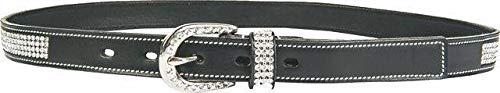HKM Erwachsene Gürtel -Melinda- 2, 5 cm breit9100 schwarz75-85 cm Hose, 9100 schwarz, 75-85 cm