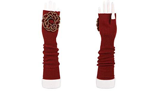 (Huixin Neue Damen Lange Handschuhe Fingerlose Jungen Blumen Wärmen Parteien Arm Sets H)