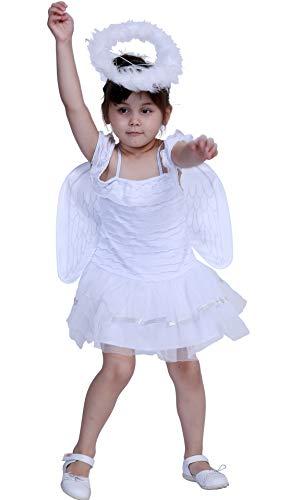 Mombebe Cosland Mädchen Engel Kleid Karnavel Feen Kostüm Set (Engel, M)