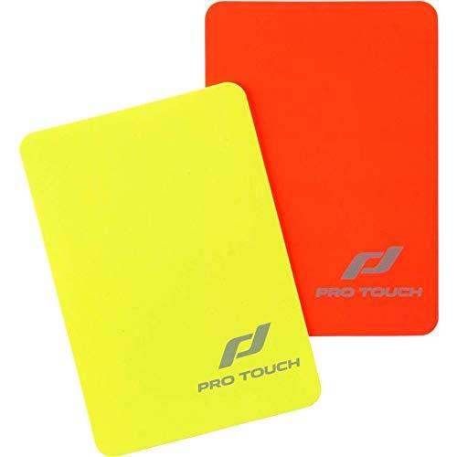 Pro Touch-Juego de Tarjetas de árbitro Tarjetas de árbitro, Color Rojo/Amarillo, Talla única