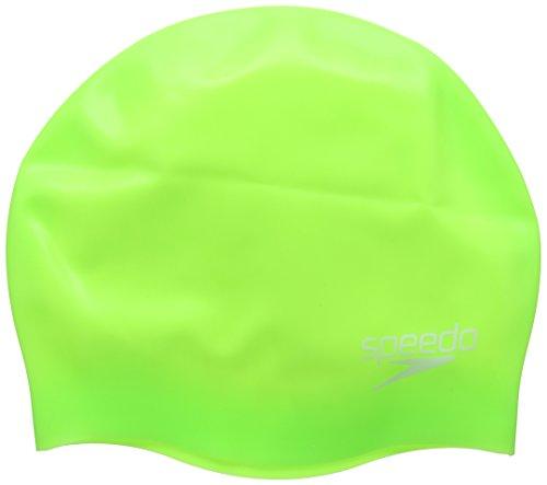 speedo-mould-silc-cap-ju-cuffia-nuoto-verde-fluo-taglia-unica