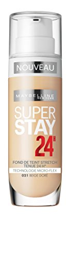 Maybelline Superstay 24H Foundation 21 Nude Beige Frasco dispensador Líquido - base de maquillaje (Nude Beige, Piel mixta, Piel seca, Piel normal, Piel grasosa, Piel sensible, Frasco dispensador, Líquido, Natural, 24 h)