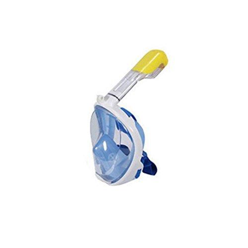 haleine Masque Complet Surface plongée Tuba plongée Natation Masque respiratoire Gratuite pour Jeunes et Adultes, Bleu, L-XL