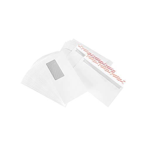 SCHÄFER SHOP Briefumschläge mit Fenster selbstklebend 250 Stück DIN lang 80 g/qm Papier