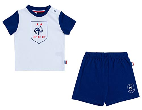 Equipe de France de Football Ensemble t-Shirt + Short bébé garçon FFF - Collection Officielle 24 Mois