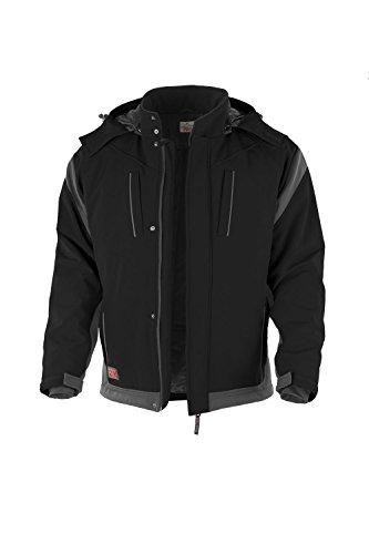 Softshelljacke blau grau schwarz weiss oder grün Arbeitsjacke (L, schwarz/grau)