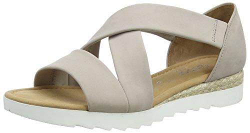 Gabor Shoes Comfort, Sandales Bout Ouvert Femme Beige (leinen Jute)