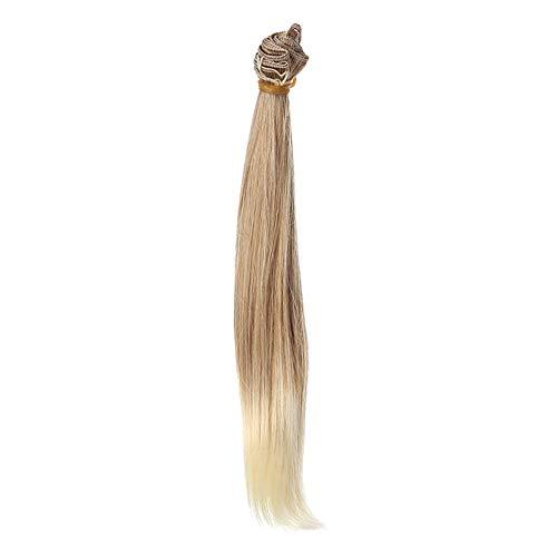 Battnot Dutt Haarteil Zopf Art und Weise 25 cm Großhandelsperücke-Puppe des Geraden Haar-DIY/BJD Clip Updo Haar Geflochtene Perücke, Haarknoten Haargummi...