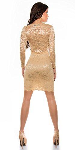 In-Stylefashion - Robe - Femme Ecru Ecru Ecru - Champagne
