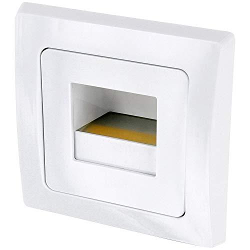 Unterputz-leuchte (LED Wandeinbauleuchte Stufenleuchte weiß 230V - passend in 60er Schalterdosen - 1,5W 110lm - warmweiß (3000 K))