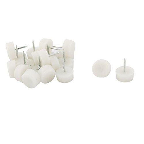 DealMux base di plastica Sedia da ufficio antiscivolo Leg Riparazione Glide Nail 21 millimetri Dia 20 Pz