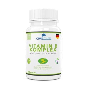 Folsäure B6 Vitamine (Vitamin B Komplex Tabletten | 180 Tabletten reichen für sechs Monate | 100% des Tagesbedarfs von allen acht B Vitaminen | B1, B2, B3, B5, B6, B7 (Biotin), B9 (Folsäure) und B12 | OSHUNhealth)