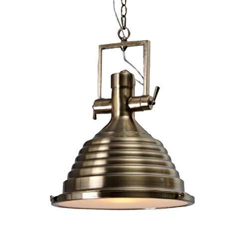 Loft Metal Pendelleuchte Beleuchtung,1-leichte Vintage Industrie Kronleuchter,kücheninsel Hängeleuchte Nautische Antike Flush Mount Deckenleuchte Leuchte-bronze -