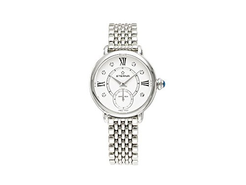 Eterna Lady Eterna Quartz watch, Ronda 6004D, 28mm, 5 atm, Diamonds, White