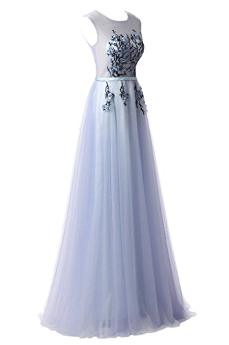 ivyd ressing Femme Ligne application A col rond Prom robe Lave-vaisselle robe robe du soir Bleu ciel
