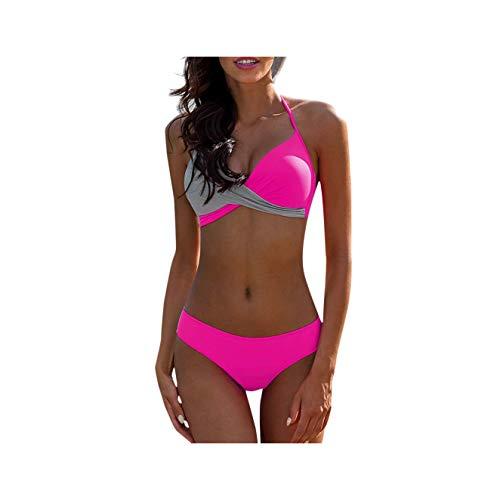 GELORT& Women's Swimming Suit Sexy Bikini Swimsuit Womens Swimwear Padded Push-up Bra Bikini Set Swimsuit Bathing Suit Beachwear Black XXL