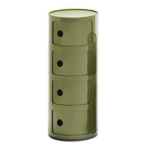 Componibili 4 Container, grün glänzend H 77cm Ø 32cm Neue Farbe!