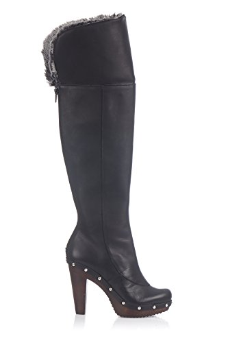 Laura Moretti Swedish Nailed Boot, Bottes de moto femme Noir