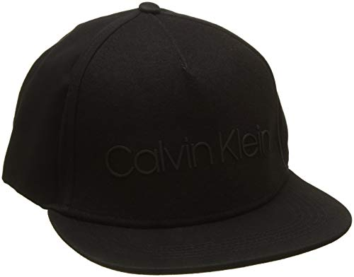 Calvin Klein Herren Baseball Cap Logo Patch Trucker M, Schwarz (Black 001), One Size