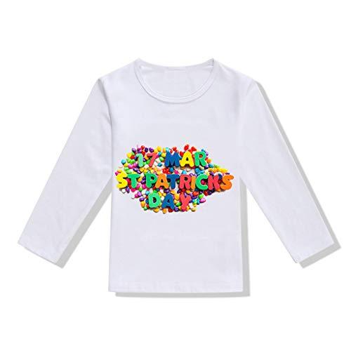 39fe6fc455f6d T-Shirt Manches Longues Bébé Fille Garçons - Sunenjoy Saint Patrick Haut  Lettre Trèfle Imprimé