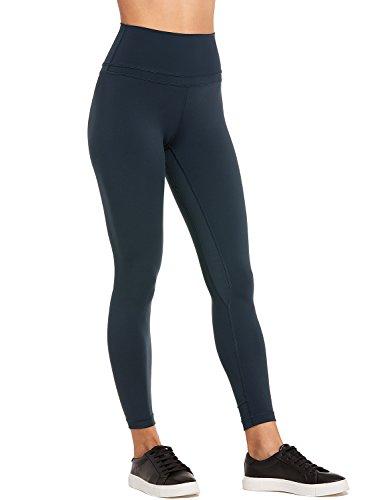 CRZ YOGA Damen Sports Yoga Leggings Sporthose mit Hoher Taille-Nackte Empfindung -19\'\' / 25\'\' Dunkelgrün S(38)