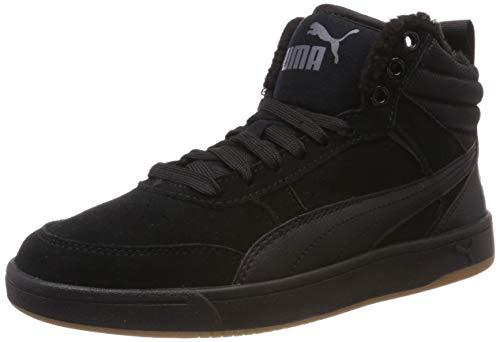 Puma Rebound Street V2 SD Fur, Zapatillas Altas Unisex Adulto, Negro Black Black-Iron Gate 01, 43 EU