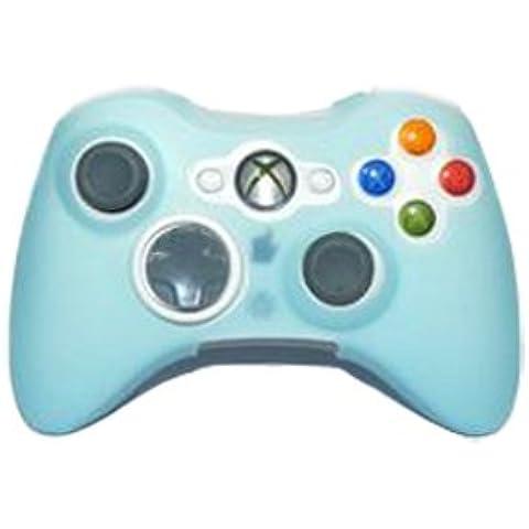blu copertura della cassa della pelle del silicone per xbox 360 controller