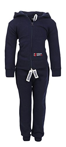 Gennadi Hoppe Kinder Sweat Jogginganzug Sportanzug Trainingsanzug, navy , 146/152
