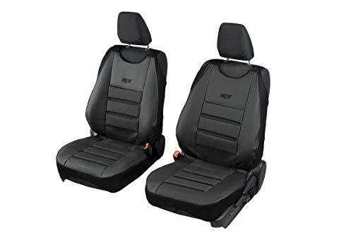 Coprisedili universali in carbonio nero per Opel Adam - 2 pezzi. Un set di sedili anteriori
