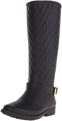 Indovinate Lulue punta rotonda pioggia Synthetic Boot Black