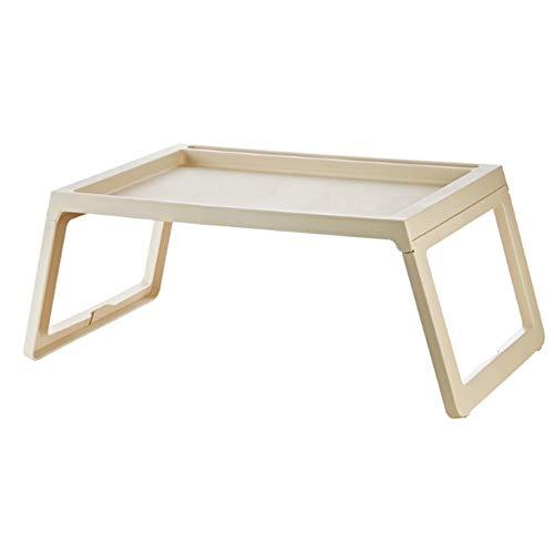 Tragbare Laptop-Ständer Bett Tisch Schreibtisch, Laptop Tablett Schreibtisch Faltbarer Lap Table Bettkasten, TV Tray Stehtisch (Farbe : Beige, Größe : 68 * 35.8 * 27.5cm) (Tray Kinder-tv-lap)