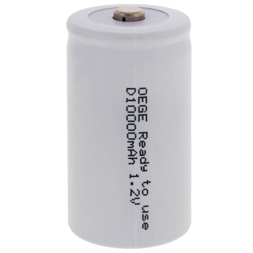 6 x ORIGINAL OEGE Akku/Mono/ D/1,2 V/ 10000 mAh/Ready to use/ schnellladefähig/ hochstromfest (Nimh-wireless-handy)