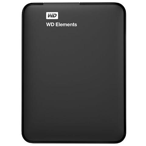 WD 1TB Elements Portable Externe Festplatte - USB 3.0 - WDBUZG0010BBK-EESN