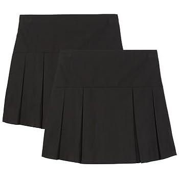 71dfc877753 Debenhams Kids Girls  Pack of Two Black Kilt School Skirts ...