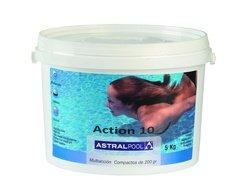 CLORO MULTIACCION ASTRALPOOL ACCION 10 - ENVASE 5 Kilogramos